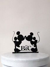 Personalized Wedding Cake Topper - Mickey and Minni Wedding 2 with your initials