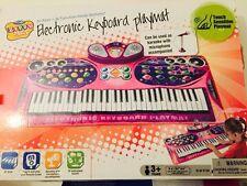 Ginzick Music Piano Electronic Keyboard Playmat Microphone Karaoke Stand-PINK
