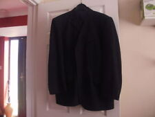 Mens BURTON grey wool pinstripe suit, jacket 44 short, trousers W36 short L29