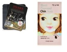 1 x Etude House Black Charcoal Chin Pack + 2 x Snake Facial Mask Sheet