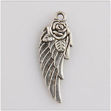 25 wings Tibetan Silver Charms Pendants Jewelry Making Findings EIF0585
