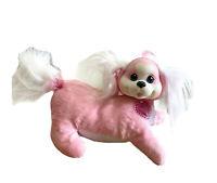 Puppy Surprise Zoey Pink White Sparkle Hair Dog Soft Plush Toy 30cm NO PUPPIES