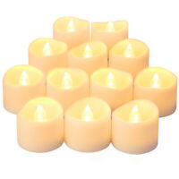 12PCS Flameless LED Candles Tea Lights Flickering Battery Operated Wedding Decor