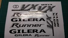 Gilera Runner VX 125 Sticker/Decal Set  *BLACK & WHITE* 4 STROKE ST VXR