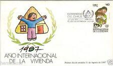 Chile 1987 FDC Año internacional de la Vivienda