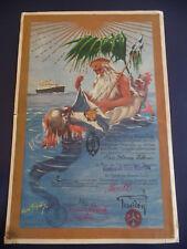 Hamburg-Amerika Linie 1932 Hamburg America General San Martin Cruise Ship Art