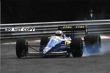 9x6 Photograph Andrea de Cesaris , F1 Rial ARC1 , Belgium GP  Spa 1988
