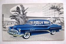 1950s Buick Super Riviera Sedan Model 52 Advertising Postcard Nice Condition