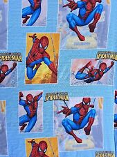 Spiderman Standard Twin Bed Sheet Flat Super Hero Marvel Comics Spider Sense