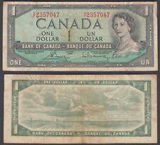 Canada 1 Dollar 1954 (1972-73) Banknote (aVF) Condition P-75c