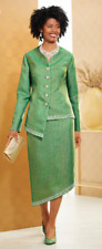 Ashro Emerald Green Formal Dinner Church Party Latricia Skirt Suit Size 24W PLUS