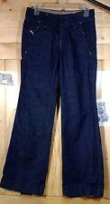 DIESEL BOOTIK wide leg trouser thick denim cuffed designer jeans 26 27*30 EUC
