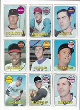 *1969 Topps 3rd Series Baseball PICK LOT-YOU Pick any 2 of 14 cards for $3!*