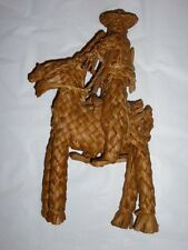 Vintage Straw Rattan Folk Cowboy Weave Donkey Woven Braided Zapata Mexican Palm