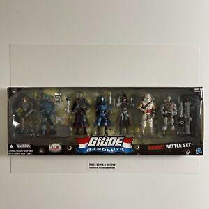 "Hasbro GIJOE 25th Anniversary 3.75"" Resolute Cobra Battle Set 7-Pack New Sealed"