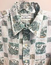Reyn Spooner Hawaiian Shirt  Dietrich Varez Maui Hawaiian Superman Pele Volcano