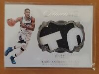 2016-17 Panini Flawless #7/18 Karl-Anthony Towns Nameplate Patch SP GAME WORN
