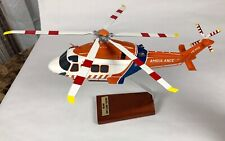 Bader Agusta Westland AW189 Helicopter Model HEMS Ambulance Desk Shelf Display