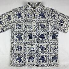 Reyn Spooner Youth Boys Medium Hawaiian Shirt Surfing Flag Floral
