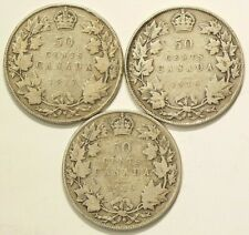 1917 1918 1919 Canada 50 Cents Silver Lot of 3 #6979