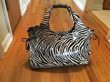 KATE SPADE Purse Thea Hobo Vinyl/Leather Handbag Zebra Stripe in Brown Natural