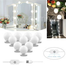 Make Up Mirror Lights 10 LED Kit Bulbs Vanity Light Dimmable Lamp Hollywood CC