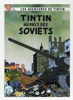 Carte Postale Tintin - AU PAYS DES SOVIETS - Pastiche éditions Czarlitz 2017