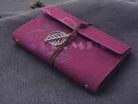 "7""x5"" Journals Book Handmade Vintage Leather Notebook Travel Journal Rosy Red"
