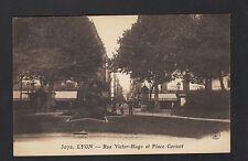 """LYON (69) COMMERCE de VINS """"COMPTOIR PARIS-LYON"""" ,Rue VICTOR HUGO animée en 1924"""