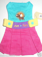 NEW Dog Pet CLOTHES Waghearted SUN FUN DRESS XSMALL