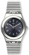 Swatch YLS186G Starling Black Dial Stainless Steel Women's Watch