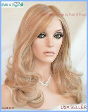 Limelight Lace Front Monotop Wig *Color RL14.22 Pale Gold Wheat Sexy Blond