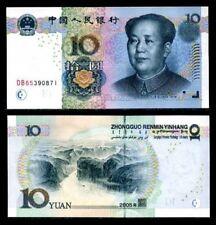 CHINA 10 YUAN 2005 MAO UNC P-904 PREFIX CU