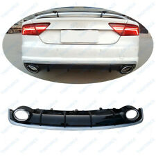Rear Lip With Exhaust Tips Fit For Audi A7 RS7 2016-2017Year  YL3/605