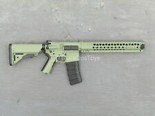 1/6 scale toy RIFLE - OD Green LVOA Keymod AR-15 Rifle w/Extendable Stock