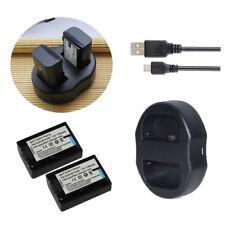 2X NP-FV50 Battery+charger for SONY Handycam NP-FV30 NP-FV40 NP-FV70 NP-FV100