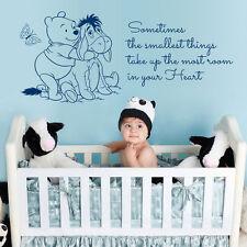 Winnie The Pooh pegatinas de pared arte grande citar dormitorio de los niños bebé vivero decoratio