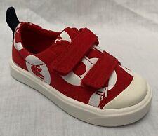 BNIB Clarks Disney Minnie Mouse Girls City Polka Lo Red Canvas Shoes F/G Fitting