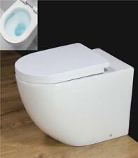 Toilet WC Back to Wall Cloakroom Rimless Square Ceramic Soft Close Seat B3R