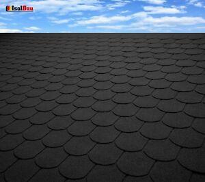 Dachschindeln 3 m? Biberschindeln Schwarz (21 Stk) Schindeln Dachpappe Bitumen