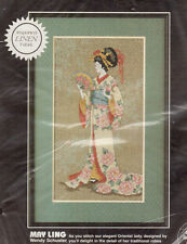May Ling Counted Cross Stitch Kit Linen Oriental Lady Dimension Wendy Schuster