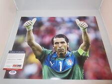GIANLUIGI BUFFON SIGNED 11X14 PHOTO PSA/DNA WORLD CUP ITALY SOCCER JUVE U74929