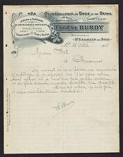 """SAINT-GERMAIN-du-BOIS (71) QUINCAILLERIE en gros """"ARVEUX / Eugene BURDY"""" 1908"""