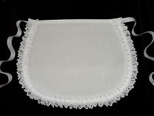 VICTORIAN STYLE MAIDS CUTE LITTLE WHITE APRON COTTON and LACE * Made in UK ***