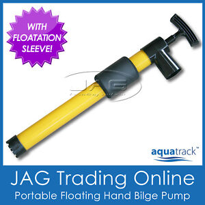 FLOATING PORTABLE YELLOW HAND BILGE PUMP - Boat/Kayak/Canoe/Dingy/Tender