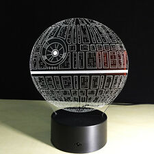 Night Light Luce Notturne Acrilico Natale Regalo Star Wars Death Star Morte Nera