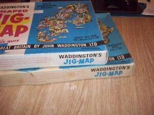 "2 X WADDINGTON'S SHAPEDJIG-MAP PUZZELS-'SCANDINAVIA' and 'AFRICA' both 23"" x 18"""