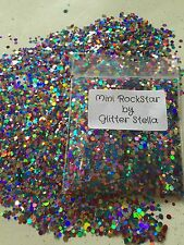 Nail Art Mixed Glitter Mix  ( Mini Rockstar ) 10g Bag Chunky Multi Coloured Dots