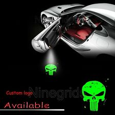 Customized Punisher Skull LED Light Car Door Projector Ghost Shadow Laser Lamp
