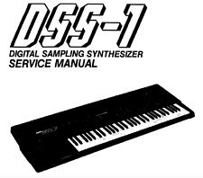 KORG DSS-1 Service Manual Diagrams Repair Schaltplan Techniques